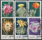 ГДР 1970 год. Цветущие кактусы, 6 гашёных марок