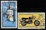 ГДР 1975 год. Лейпцигская осенняя ярмарка, 2 гашёные марки