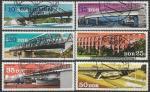 ГДР 1976 год. Мосты, 6 гашёных марок