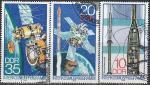 """ГДР 1978 год. Программа """"Интеркосмос"""", 3 гашёные марки"""