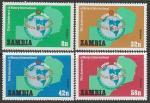 """Замбия 1980 год. 75 лет Международной неправительственной ассоциации """"Ротари Интернешнл"""", 4 марки"""