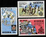 """Нигерия 1983 год. 75 лет """"Бригаде мальчиков"""" в Нигерии, 3 марки"""
