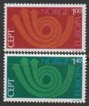 Норвегия 1973 год. Европа. СЕРТ, 2 марки