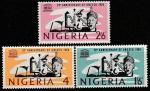 Нигерия 1966 год. 20 лет ЮНЕСКО, 3 марки
