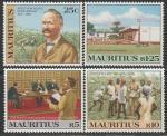 Маврикий 1983 год. 125 лет со дня прибытия социального реформатора Адольфа фон Плевица, 4 марки