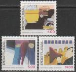 Португалия 1979 год. Кампания по предохранению от шума, 3 марки (с наклейкой)