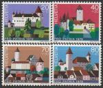 Швейцария 1979 год. Замки, 4 марки