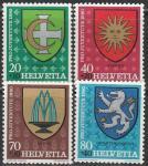 Швейцария 1980 год. Муниципальные гербы, 4 марки