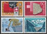 Швейцария 1985 год. Страна в деталях: техника, служба спасения, туризм, 4 марки