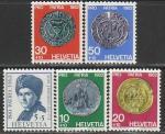 Швейцария 1962 год. Старинные монеты, 5 марок