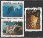 Гондурас 1993 год. Фауна, 3 марки