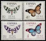Ифни (Марокко) 1966 год. Бабочки, 4 марки
