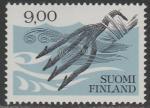 Финляндия 1984 год. Старые предметы обихода. Острога, 1 марка