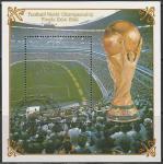 КНДР 1985 год. Чемпионат мира по футболу. Стадион в Мехико, гашёный блок