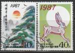 КНДР 1987 год. Новый Год, 2 гашёные марки