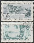 КНДР 1965 год. Ландшафты, 2 гашёные марки