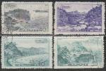 КНДР 1966 год. Дома отдыха и санатории, 4 гашёные марки