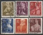 Венгрия 1944 год. Знаменитые венгры, 6 гашёных марок