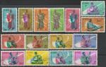 Гвинея 1962 год. Музыкальные инструменты, 15 гашёных марок