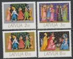 Латвия 1992 год. Рождество, 4 марки