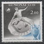 Монако 1981 год. 25 лет первому финалу Чемпионата Европы по футболу в Париже, 1 марка