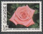 Монако 1981 год. I Международная выставка роз в Монте-Карло, 1 марка