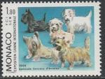 Монако 1986 год. Международная выставка собак в Монте-Карло, 1 марка