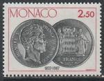 Монако 1987 год. 150 лет возобновлению чеканки монет, 1 марка