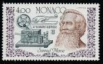 Монако 1987 год. 150 лет электрическому телеграфу Самюэля Морзе, 1 марка