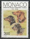 Монако 1988 год. Европейская выставка таксы в Монте-Карло, 1 марка