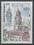 Монако 1988 год. Монако 1988 год. Статуя Марии. Кирха, 1 марка