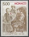"""Монако 1988 год. Гравюра на меди """"Собрание семьи"""", 1 марка"""