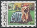 Монако 1989 год. Международная выставка собак в Монте-Карло, 1 марка