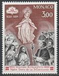 """Монако 1989 год. 350 лет Конгрегации """"Милосердные братья и сёстры"""", 1 марка"""