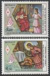 Монако 1989 год. Красный Крест. Голубь мира. Покровительница Монако, 2 марки