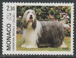 Монако 1990 год. Международная выставка собак в Монте-Карло, 1 марка