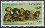 Монако 1976 год. Международная выставка собак в Монте-Карло, 1 марка