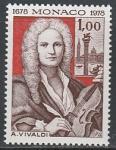 Монако 1978 год. 300 лет со дня рождения композитора Антонио Вивальди, 1 марка