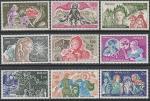 Монако 1978 год. 350 лет со дня рождения писателя Шарля Перро, 9 марок
