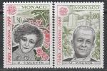 Монако 1980 год. Европа СЕРТ. Французская писательница Колетт, кинорежиссёр Марсель Паньоль, 2 марки