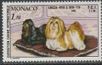 Монако 1980 год. Международная выставка собак в Монте-Карло, 1 марка