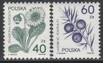 Польша 1989 год. Лекарственные растения, 2 марки