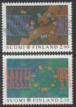 Финляндия 1991 год. Европейское космическое путешествие, 2 марки (Ю)