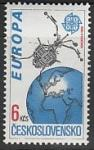 ЧССР 1991 год. Европейское космическое путешествие, 1 марка (Ю)