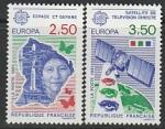 Франция 1991 год. Европейское космическое путешествие, 2 марки (Ю)