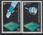Лихтенштейн 1991 год. Европейское космическое путешествие, 2 марки (Ю)