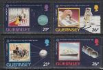 Гернси (Великобритания) 1991 год. Европейское космическое путешествие, 4 марки (Ю)