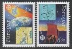 Фарерские острова (Дания) 1991 год. Европейское космическое путешествие, 2 марки (Ю)