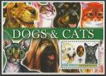 Афганистан 2003 год. Собаки и кошки. Эмблема скаутов, блок