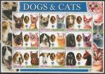 Афганистан 2003 год. Собаки и кошки. Эмблема скаутов, малый лист